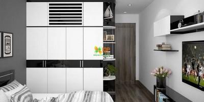 Chọn mua tủ quần áo phù hợp với không gian phòng